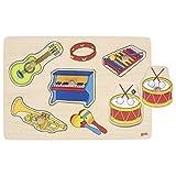 GOKI-57520 Puzzles de Madera, Los Instrumentos Musicales, Multicolor (57520)