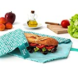 NEW - Roll'eat- Boc'n'Roll Tiles Green - Reusable sandwich wrap - food bags - food wrap - lunch bag - zero waste - BPA Free