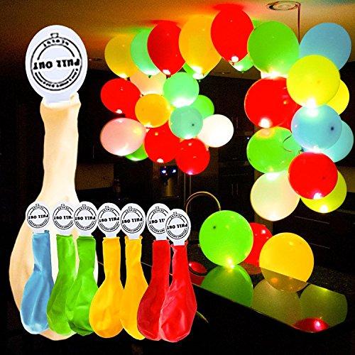 YOHOOLYO 50 x Palloncini Colorati LED Palloncini Luminosi Luce Led 30cm per Decorazione Natale Festa...