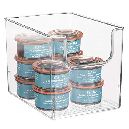 mDesign Contenitore da frigo per Alimenti - Scatola da Cucina in plastica Senza BPA con Apertura -...