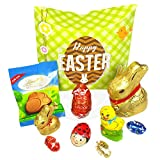 Lindt Chocolate Easter Treat Box - Bunnies, Lindt Lindor Egg, Bug Mini Eggs and Bunny Paw - By Moreton Gifts