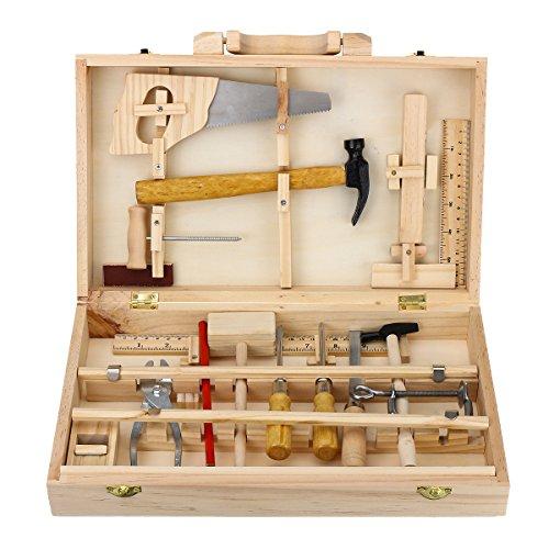 MASUNN Kid in Legno Stoccaggio Giocattolo Strumento Set Toolbox DIY Educativo Panchina Apprendimento...