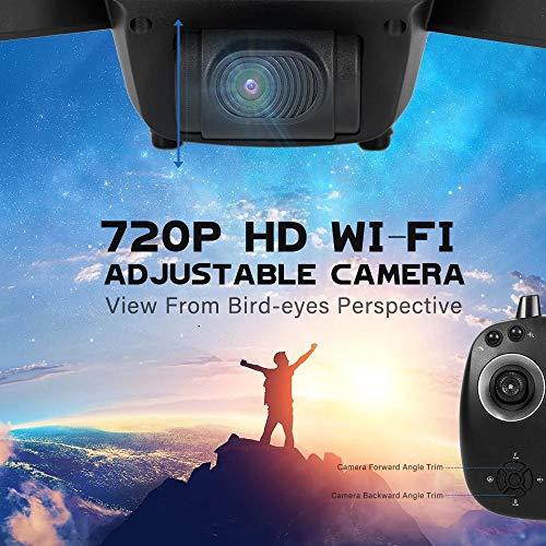 LM Drone Drones et caméras WiFi Quadcopter et 1080P caméra vidéo en Direct Hauteur Pliable Garder Mode sans tête GPS Retour Automatique 8