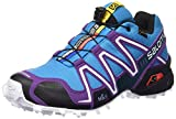 Salomon Damen Speedcross 3 Gtx Trail Runnins Sneakers, Bleu-Azul (Scuba Blue / Cosmic Purple / Black), 38 2/3 EU