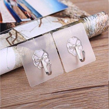 20-Stcke-Haken-Selbstklebend-Wiederverwendbar-Transparenter-Klebehaken-Handtuchhaken-Kleiderhaken-Wasserfest-Badezimmer-Haken-Ohne-Bohren-fr-Kche-Bad-Wand-Decke-AufhngerMax-6kg