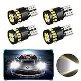 4 Pack T10 W5W 21 x 4014 Lampadine LED auto, Oladwolf Luci interne a LED per auto con luce di parcheggio Canbus Luce laterale luce di riserva, Lampadine di ricambio Lampade interne (bianco)
