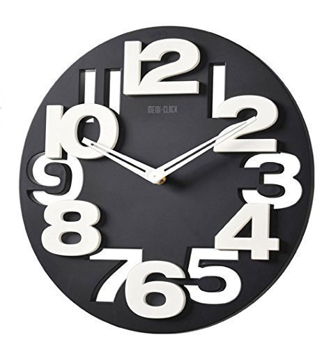 3 D Design orologio da parete moderno 8808 da cucina Baduhr office Clock decorazione silenziosa...