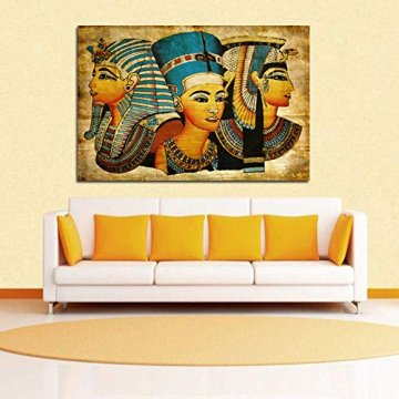 Arte de la Pared de la Lona,   Antiguo Egipcio Mural Completo de la Pintura al óleo 40 * 60Cm Egipto Pintura de la Pared Oil-Picture Completo de la Figura Pharaoh Home Decor 7