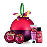 The Body Shop Frosted Beeren Festive Dose–Frosted Beeren Dusche Gel 60ml Frosted Beeren Body Scrub 50ml Frosted Beeren Body Butter 50ml Frosted Beeren Hand Creme 30ml