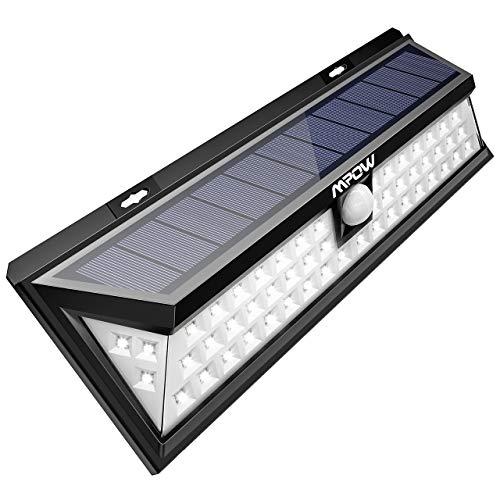 Mpow 54 LED Solarleuchte Außen Wasserdichte Solarbetriebene Lampe mit 120° Weitwinkel...
