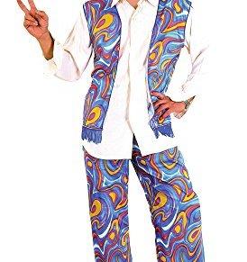 Bristol Novelty - Disfraz de Hombre Hippy Flower Power