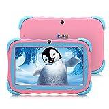 iRULU 7 Pulgadas Android 7.1 Tablet para niños IPS HD Screen 1GB/16GB Babypad Edition PC con WiFi y Cámara y Juegos Google Play Store Bluetooth Compatible Kids Proof Case GMS Certified (Rosa)