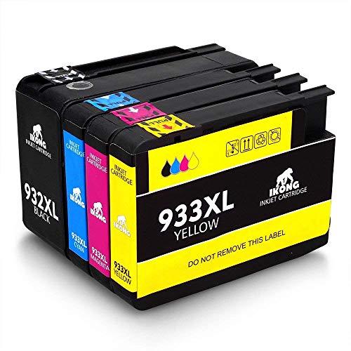 IKONG 932XL 933XL Alta capacità Cartucce d'inchiostro Sostituzione per HP 932 933 Compatibile con...
