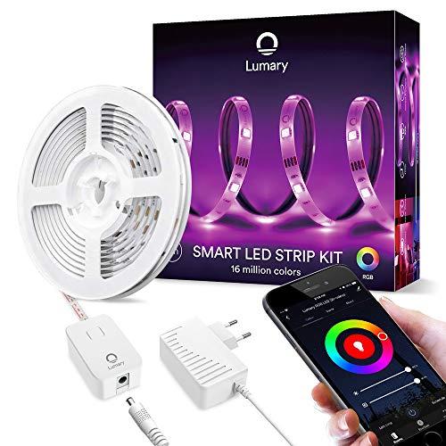 Smart Strisce LED 3m -Lumary WiFi RGB Led Striscia 5050 dimmerabile, compatibile con Alexa,Google...