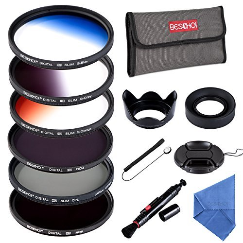 Beschoi Filtro Nd + CPL, Kit Filtri 13 Pcs Accessori per Canon Nikon Sony Pentax Sigma DSLR 58mm
