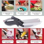 Sell ON New Arrival Garlic, Chilli and Dryfruits Multi Crusher Chopper Combo of Plastic Transparent Multi Vegetable Crusher/Grinder/Cutter and 2 in 1 Cutter/Knife/Chopper (Green/2 in 1 Cutter Combo) 20