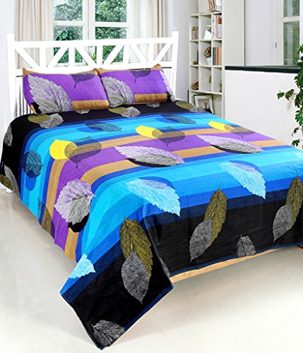 Bedsheet(100% Heavy cotton Double Bedsheet with 2 Pillow Cover)