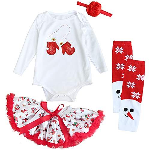 FANCYINN Bambine e Ragazze Outfits Costume del Festival Infantile Abito Tutu 4 Pezzi Set di...