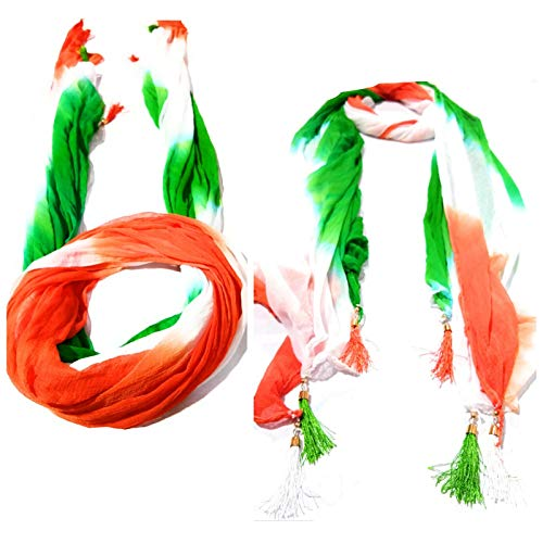 StyleBlizz Women's Chiffon Indian Tiranga Dupatta (Multicolour, Free Size) - Pack of 5