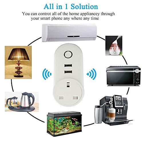 ATOMICO Voyant Lumineux Smart Plug avec minuterie USB Prise de commutateur WiFi Prise de télécommande Commande avec Amazon Alexa/Echo/Google... 24