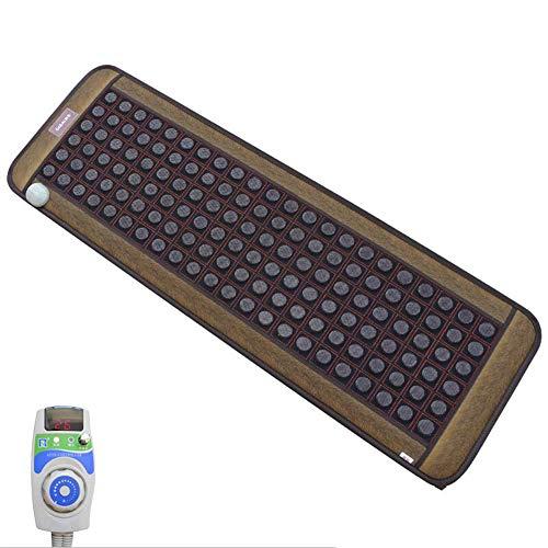Materasso da massaggio Far Infrared Natural Jade Tormalina Pietra Cuscino del Divano Cuscinetto Riscaldamento A Infrarossi, Alleviare Il Dolore del Corpo Collo Posteriore Pressione Gamba