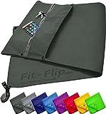 3er Set | Fitness-Handtuch mit Reißverschluss Fach + Magnetclip + extra Sporthandtuch