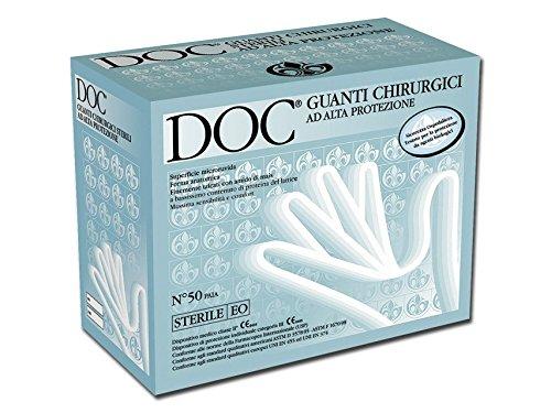 DOC Guanti Chirurgici Sterili in Lattice, 6.5, Confezione 50 Coppie