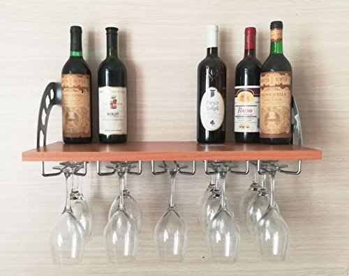 Mensola Noce rastrelliera espositore Cantina portabottiglie Bottiglia Vino binari Posta calici...