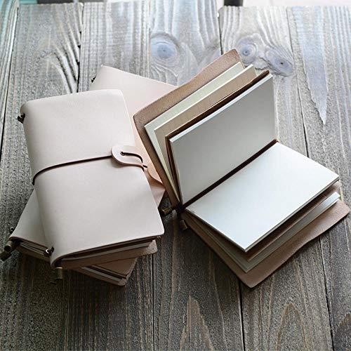 Leather Travel Diario Personale Organizzatore Cowskin Notebook Manuale di viaggio Retro Impostazione...