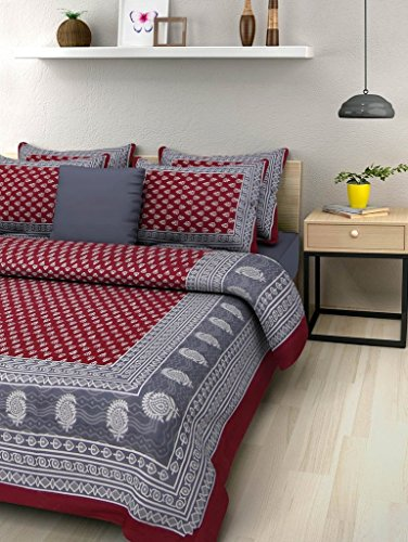 Bedsheets (Suraaj Fashion 100% Cotton Double Bedsheet With 2 Pillow Cover)