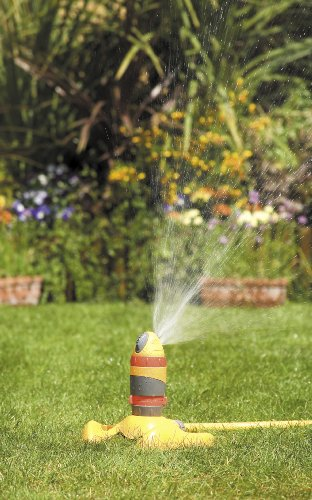 The Hozelock's durable design allows for a wide coverage. It is affordable and an ideal choice for a circular lawn or a small area. However, if you are looking for a sprinkler to water a rectangular or square area, a different model may suit your needs better.