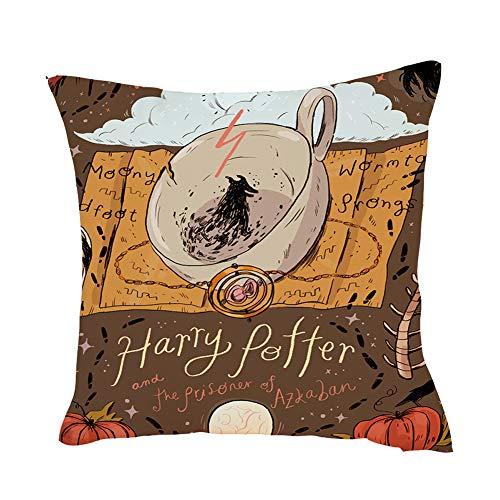 EisEyen Harry Potter 3D - Federa per Cuscino, Misura Grande, 40 x 40 (45 x 45 cm), per Divano, caffetteria, Biblioteca, libreria, Festa, Club 02*