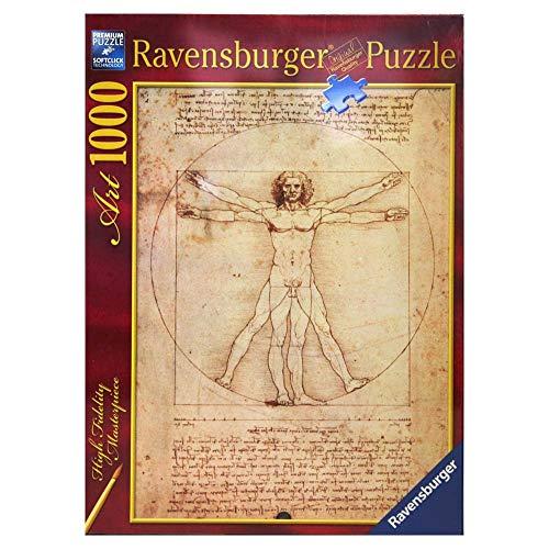 Ravensburger Italy Puzzle 1000 Pezzi Leonardo: Uomo vitr, Multicolore, 4005556152506