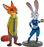 Bullyland Walt Disney Zootopie Set Avec 2 Pièces - Nick Wilde Et Judy Hoops