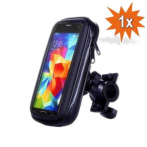 Do!LED 360° Universal Smartphone Handy Navi Fahrradhalterung Halter Halterung mit Wasserdichter Schutzhülle Tasche Fahrrad Motorrad Mountainbike Lenker (M)