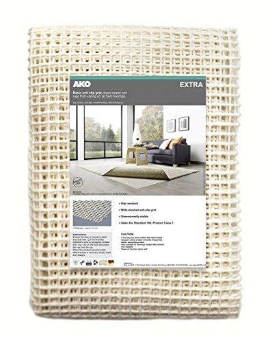 Rugs and Stuff (AKO Extra, Rete Antiscivolo per tappeti, per Pavimenti duri, plastica, Beige, 80 x...