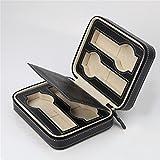 DuCeny Custodia porta orologi di lusso con modelli delicati Custodia in pelle sintetica delicata per 4 orologi , Black