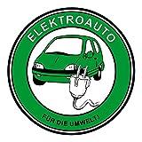 Aufkleber Elektroauto - Für die Umwelt! Ø 60 mm ~~~~~ schneller Versand innerhalb 24 Stunden ~~~~~