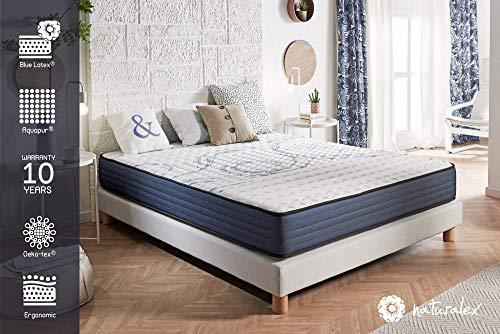 naturalex Matelas PerfectSleep - Noyau UHR Bi Densité Blue Latex et Aquapur - Très Respirant - 16 cm - 140 x 190 cm