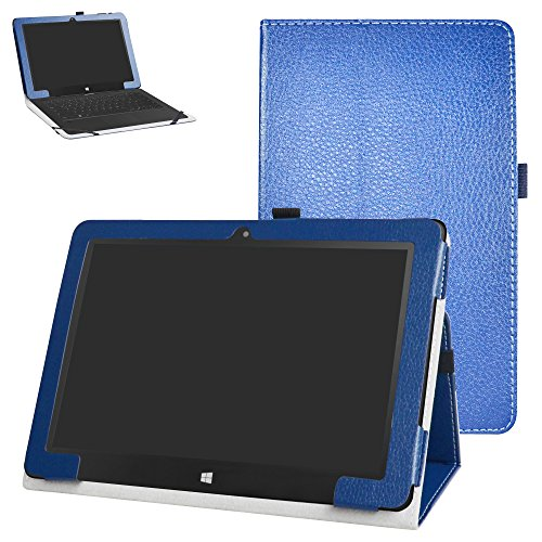 "Insignia Flex NS-P10W8100 / NS-P10A8100K Case,Mama Mouth PU Leather Folio 2-Folding Stand Cover for 10.1"" Insignia Flex NS-P10W8100 / NS-P10A8100K Android Tablet,Dark Blue"