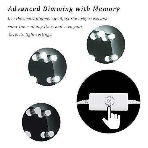 Waneway Kit Luci per Specchio Stile Hollywood per Trucco Specchio Cosmetico con Illuminazione e...