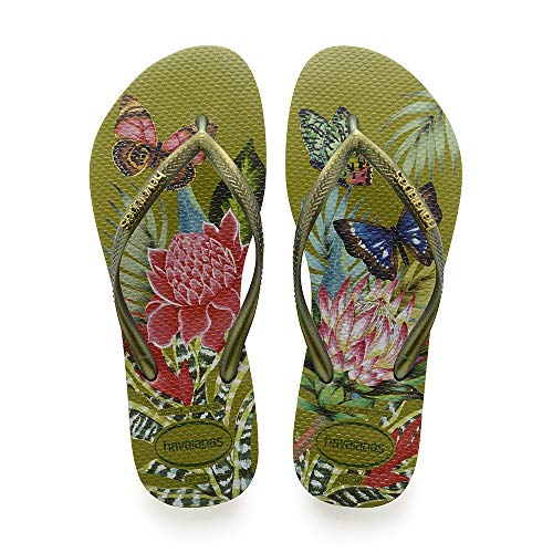Havaianas Slim Tropical, Infradito Donna, Multicolore (Camo Green 7184), 37/38 EU