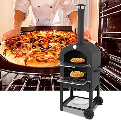 Forno per pizza Forno a Legna per Pizza,Outdoor Oven forno per grigliare, in Acciaio da Esterno...