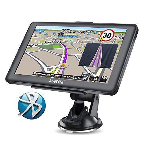 GPS Voiture Auto Europe 7 Pouces Ecran Tactile Cartographie Europe 52 à Vie Mises à Jour gratuites de la Carte (avec Bluetooth)