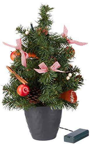 HEITMANN DECO 91822Albero di Natale con LED, Decorato, Altezza 40cm, plastica, Rosso, 24x 24x 42cm