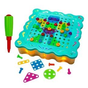 Puzzles Infantiles con LED Rompecabezas de Mosaicos Niños Juegos Construccion Juguete Motricidad Fina y Inteligencia para Niños 3 4 5 6 Años