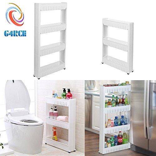 Kitchen Storage Units On Wheels: G4RCE Slim Slide Out Kitchen Trolley Rack Holder Storage