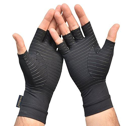 Medipaq, guanti contenitivi terapeutici contro l'artrite, senza dita, in rame