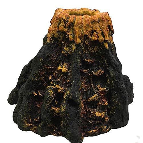 Forfar Volcán Forma y Volcán Burbuja De Aire Oxígeno Piedra De Rocalla Acuario De La Pecera Ornamento Decoración