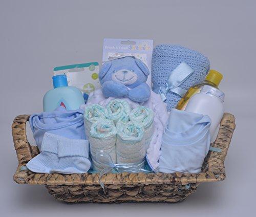 The Big Card Company - Cesta de regalo para recién nacido, para niño, azul
